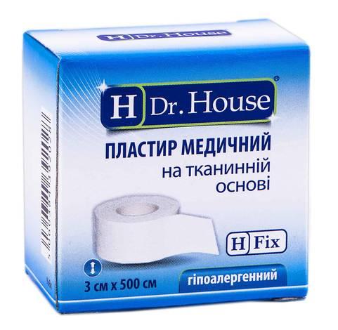 H Dr. House Пластир медичний на тканинній основі 3х500 см 1 шт