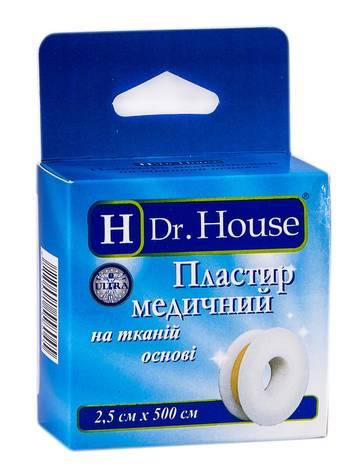 H Dr. House Пластир медичний на тканинній основі з підвісом 2,5х500 см 1 шт