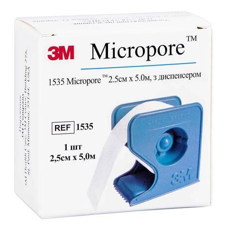 3M Мікропор Лейкопластир хірургічний гіпоалергенний 2,5 см х 5 м 1 шт