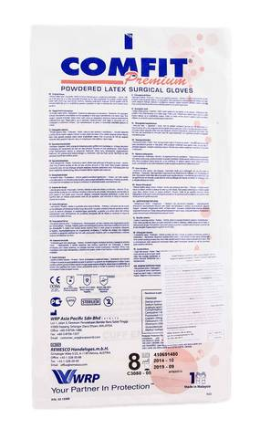 Comfit Рукавички хірургічні стерильні припудрені латексні розмір 8 1 пара