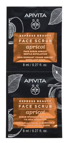 Apivita Express Beauty Гель делікатний відлущувальний з абрикосом 2х8 мл 1 шт