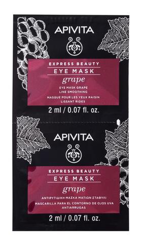 Apivita Express Beauty Маска проти зморшок для шкіри навколо очей з виноградом 2х2 мл 1 шт