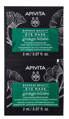 Apivita Express Beauty Маска проти набряків і темних кіл під очима з гінкго білоба 2х8 мл 1 шт