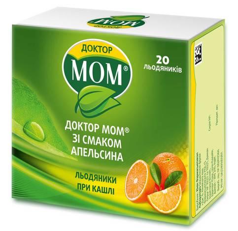 Доктор Мом зі смаком апельсина льодяники 20 шт