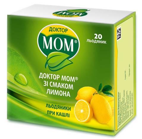 Доктор Мом зі смаком лимона льодяники 20 шт