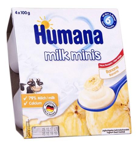 Humana Йогурт з бананом від 6 місяців 4х100 г 1 шт