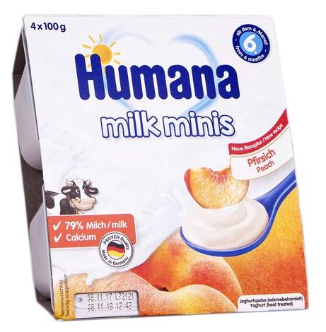 Humana Йогурт з персиком від 6 місяців 4х100 г 1 шт
