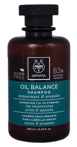 Apivita Шампунь що відновлює баланс шкіри голови з м'ятою та прополісом 250 мл 1 флакон