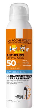 La Roche-Posay Anthelios Dermo-kids Спрей-міст ультралегкий  водостійкий для чутливої шкіри дітей 125 мл 1 флакон