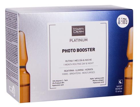 MartiDerm Platinum Фото Бустер омолоджувальні ампули для обличчя 2 мл 30 ампул