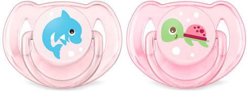 Avent Philips Classic Пустушка для дівчаток 6-18 місяців SCF169/38 2 шт