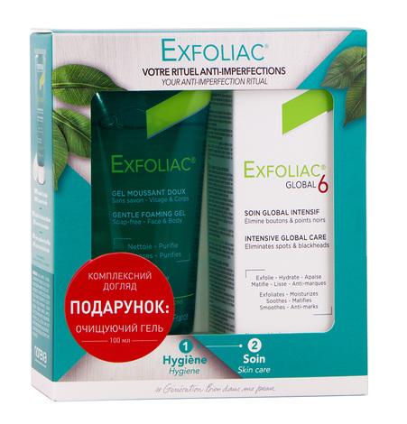Noreva Exfoliac Глобал 6 крем для обличчя 30 мл + Гель очищуючий для обличчя 100 мл 1 набір