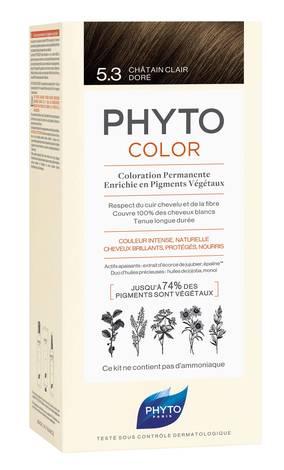 Phyto Color Крем-фарба тон №5.3 світлий шатен золотистий 1 комплект