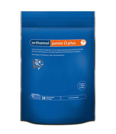 Orthomol Junior Omega Plus жувальні іриски 30 днів 90 шт
