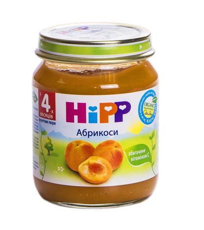 Hipp Пюре Абрикоси з 4 місяців 125 г 1 банка