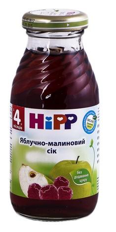 HiPP Сік Яблучно-малиновий з 4 місяців 200 мл 1 банка