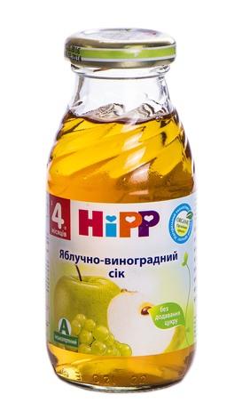 HiPP Сік Яблучно-виноградний з 4 місяців 200 мл 1 банка