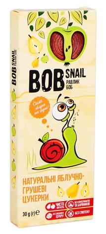 Равлик Боб Цукерки натуральні яблучно-грушеві  30 г