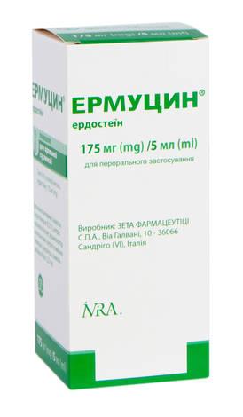 Ермуцин порошок для оральної суспензії 175 мг/5 мл  100 мл 1 флакон